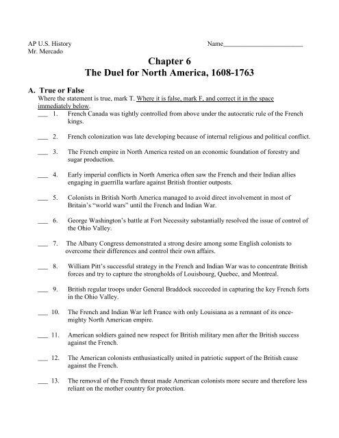 Ch 6 Homework Questions