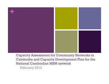 BC Capacity Assessment Findings - National AIDS Authority