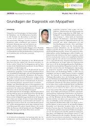 Grundlagen der Diagnostik von Myopathien - Universimed