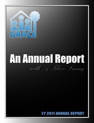 FY 2011 AnnuAl RepoRt - Grapevine Relief and Community Exchange