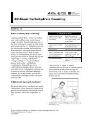 About Carbohydrate Counting - Health Translations