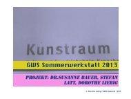 GWS Sommerwerkstatt 2013 - GWS Netzwerk