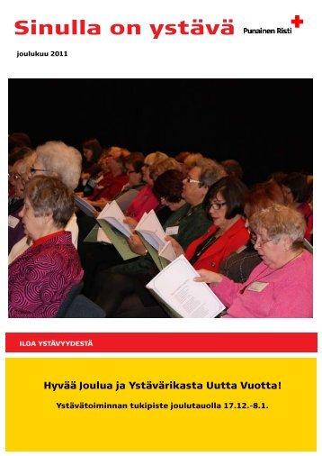 SOY, joulukuu 2011 - RedNet - Punainen Risti
