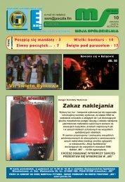 Zakaz naklejania - Siemianowicka Spółdzielnia Mieszkaniowa