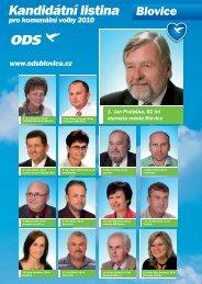Kandidátní listina pro komunální volby 2010 - Info Blovice