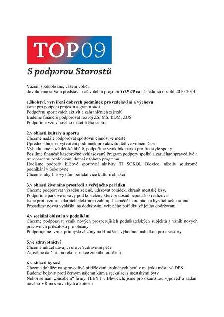 volební program - Info Blovice