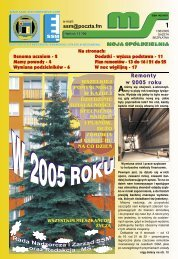 Remonty w 2005 roku - Siemianowicka Spółdzielnia Mieszkaniowa