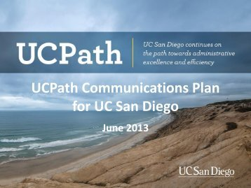 View the Communications Plan - UC San Diego