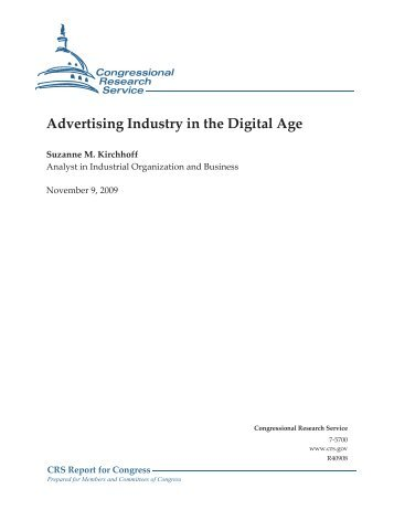 Advertising Industry in the Digital Age - Federation of American ...