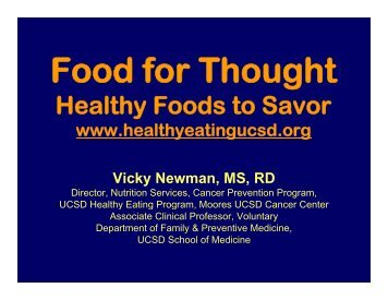 Food for Thought: Healthy Foods to Savor - Link Family