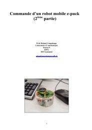 Commande d'un robot mobile e-puck (2 partie) - EPFL