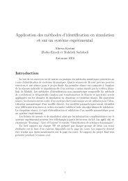 Application des méthodes d'identification en simulation et sur ... - EPFL