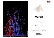 Matlab interactif - EPFL