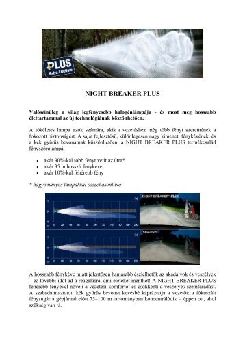 NIGHT BREAKER PLUS