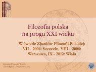 Filozofia polska na progu XXI wieku - katedra.uksw.edu.pl