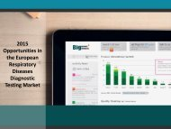 2015 Opportunities in the European Respiratory Diseases Diagnostic Testing Market