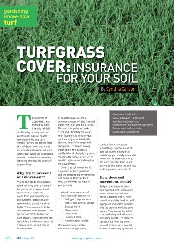 TURFGRASS COVER: