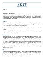 Letter - June 28, 2012 - University of Toronto Schools