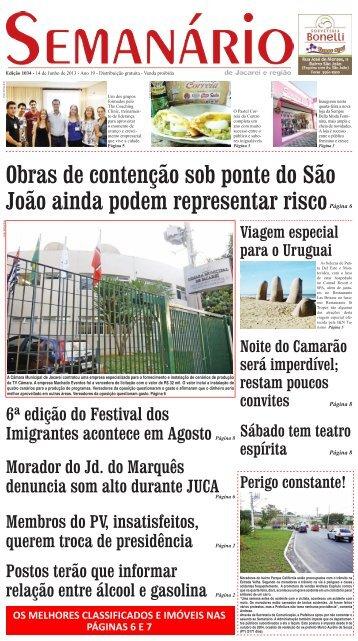 Edição 1034, de 21 de Junho de 2013 - Semanário de Jacareí