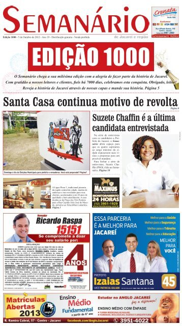 Santa Casa continua motivo de revolta - Semanário de Jacareí