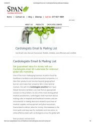 Purchase Accurate Cardiologits Mailing Lists from Span Global Services