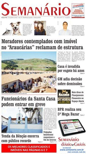Edição 990, de 27 de Julho de 2012 - Semanário de Jacareí