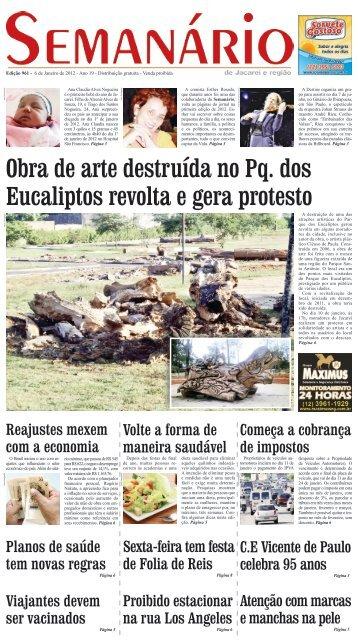 Edição 961, de 6 de janeiro de 2012 - Semanário de Jacareí