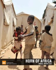 NRC Horn of Africa Annual Report 2011 - Norwegian Refugee Council