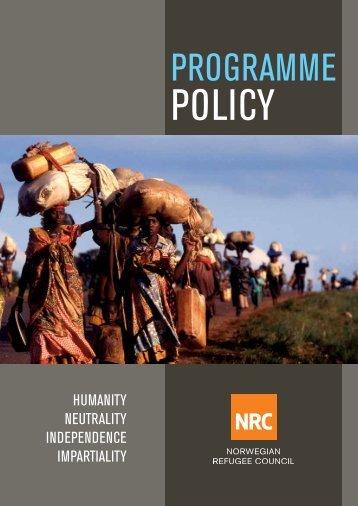 Programme Policy - Flyktninghjelpen