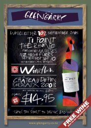 Wineletter95 fa - Glengarry Wines