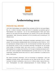 Les hele Årsberetningen for 2012 - Flyktninghjelpen