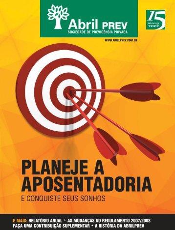 2008 - Abril - Relatório Anual de 2007 - AbrilPREV