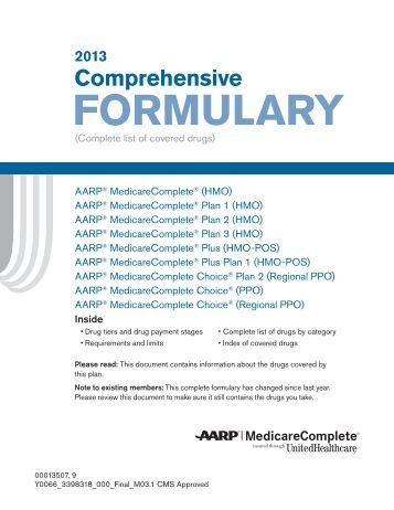 Photos Of Aarp Medicare Plan D Formulary