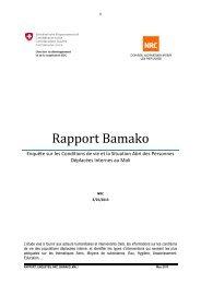 Rapport Bamako - Humanitarian Response