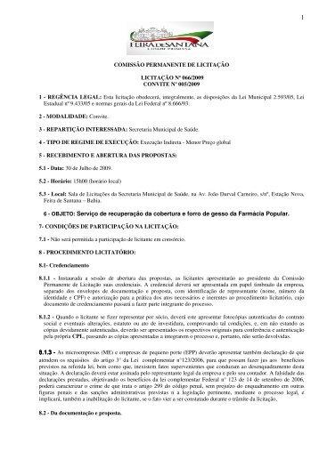 Edital - click - Prefeitura Municipal de Feira de Santana