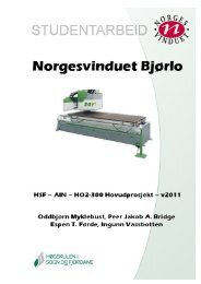 Hovudprosjektrapport Norgesvinduet.pdf - BIBSYS Brage