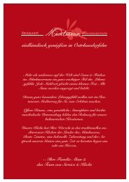 Restaurant Mediterran - Hauptspeisekarte