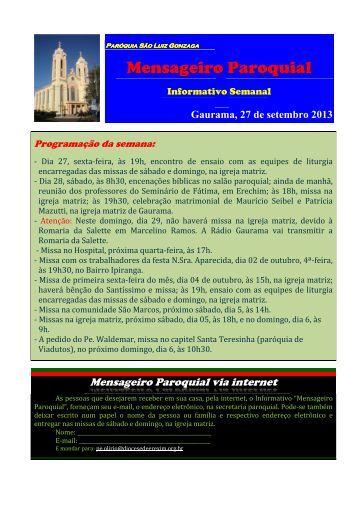 Paróquia São Luiz Gonzaga... - Diocese de Erexim