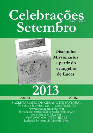 Celebrações - Setembro de 2013. - Diocese de Erexim