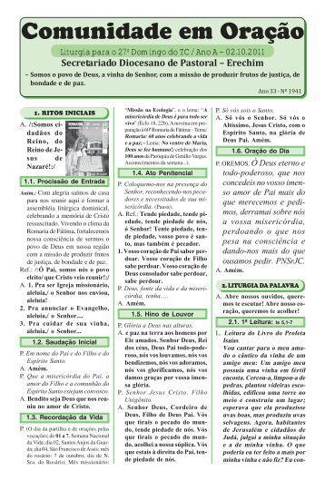 missas outubro 2011.pmd - Diocese de Erexim