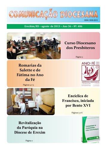 Comunicação Diocesana : Agosto de 2013 - Diocese de Erexim