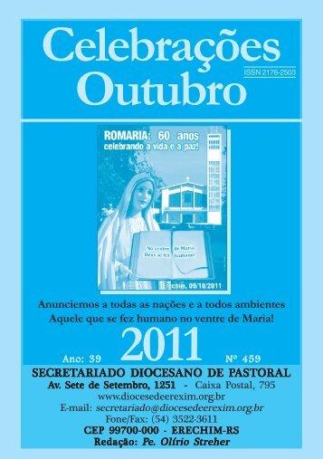 celebrações outubro 2011.pmd - Diocese de Erexim