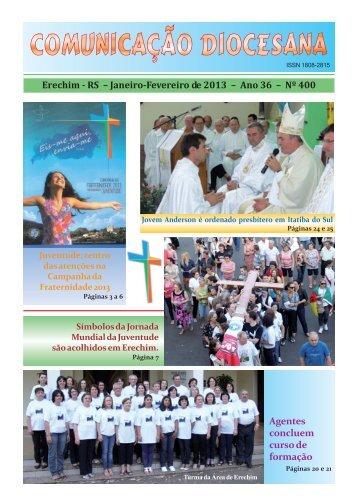 Comunicação JAN 2013.pmd - Diocese de Erexim