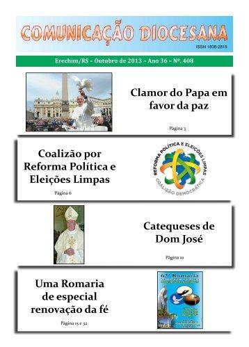 Comunicação Diocesana : Outubro de 2013 - Diocese de Erexim
