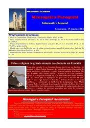 (10) Mensageiro Informativo 15 junho 2013 - Diocese de Erexim