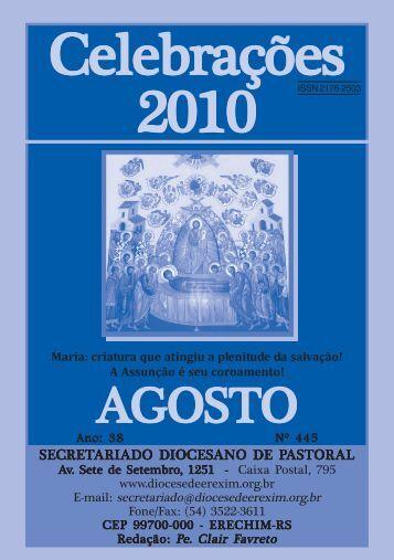 celebrações ago 2010.pmd - Diocese de Erexim