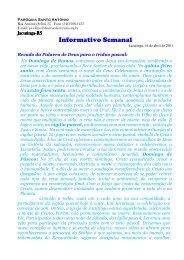 Informativo Paroquial de Jacutinga _2_ - Diocese de Erexim