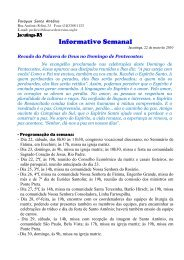 Informativo Paroquial de Jacutinga - Diocese de Erexim