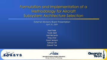 Formulation and Implementation of a Methodology for Aircraft - Pace
