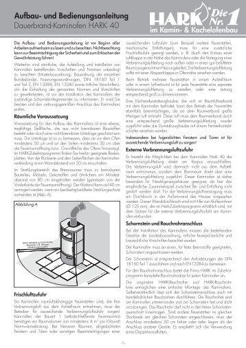 dauerbrand kaminofen hark 17 f aufbau und bedienungsanleitung. Black Bedroom Furniture Sets. Home Design Ideas